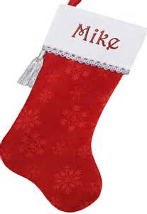 18 5 quot personalied christmas stockings with white velvet cuff trimmed