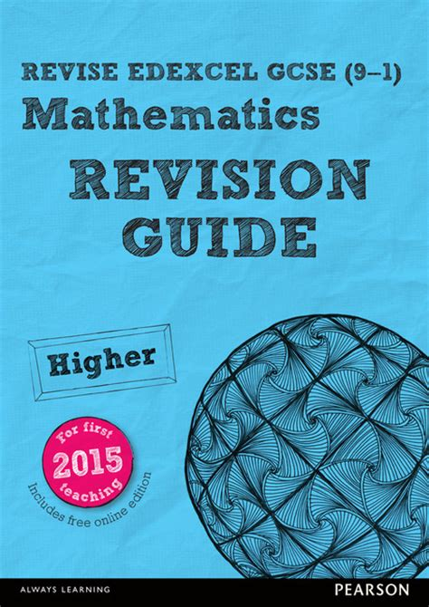 revise edexcel gcse 9 1 revise edexcel gcse 9 1 mathematics for the 2015 qualificationshigher revision guide by
