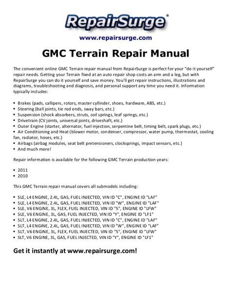service manual free car repair manuals 2011 gmc yukon xl 1500 user handbook service manual gmc terrain repair manual 2010 2011