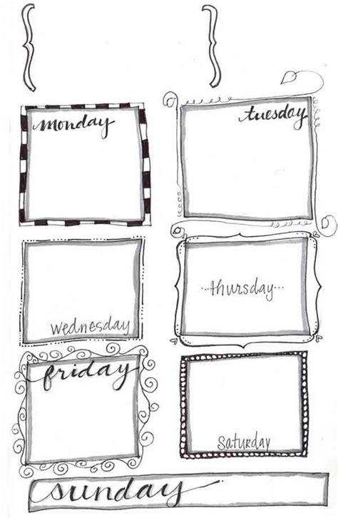 printable planner doodles cost free planner printables decor advisor