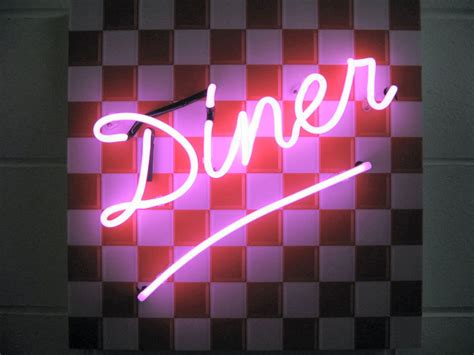 Roomdesigner diner neon sign free delivery