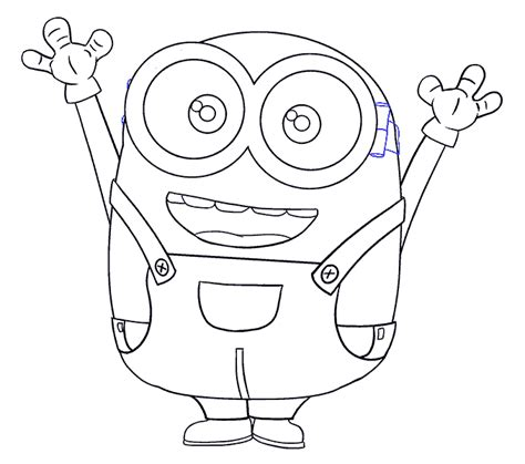 How To Draw A Easy Minion