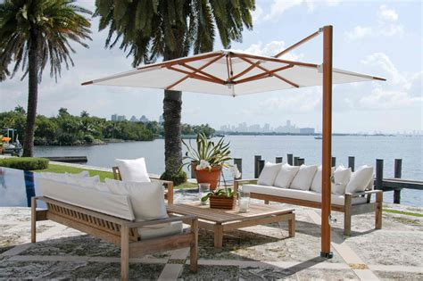 Cantilever Patio by Silver Pole With Brown Canopy Cantilever Umbrella For Your