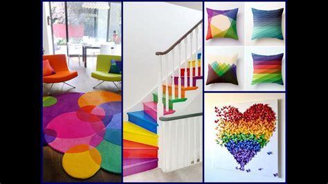 decor ideas for home colorful summer decor ideas rainbow home decorating