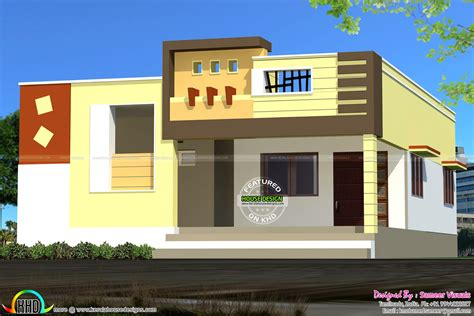 Front Elevation Of Single Floor House Kerala With Plans Sq Ft Photos Trends Images