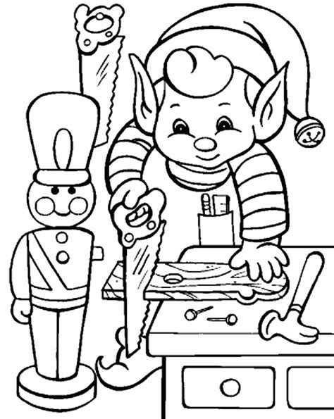coloring page elves elves coloring pages