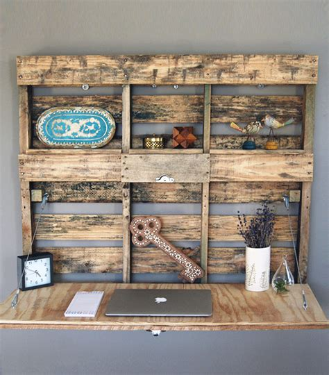 desk made from pallets pallet wood fold out desk home furniture workman s
