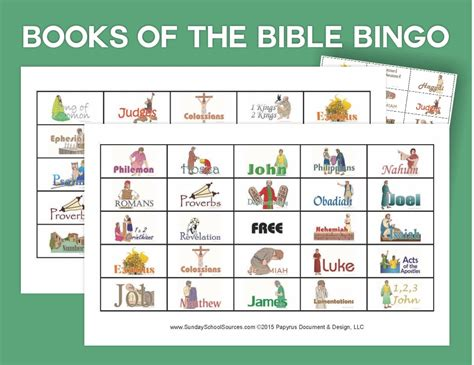 printable flash cards books of the bible books of the bible bingo sets