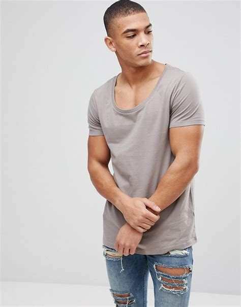 Asos T Shirt With Scoop Neck by Asos Asos T Shirt With Scoop Neck In Beige