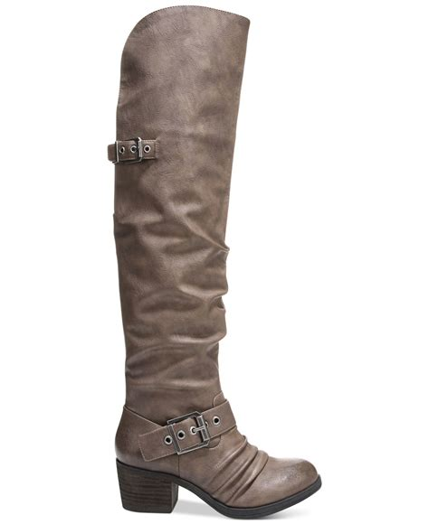carlos the carlos by carlos santana emily the knee boots in gray lyst
