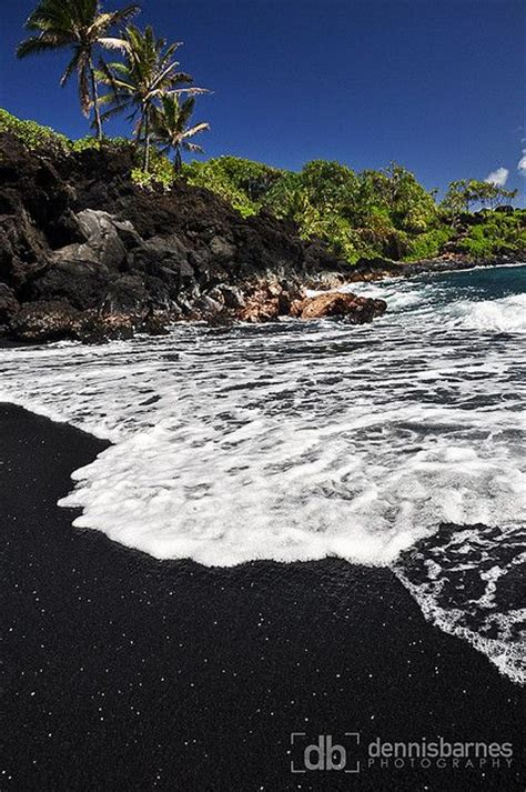 black sand beach maui maui black sand beach i want to go to there pinterest