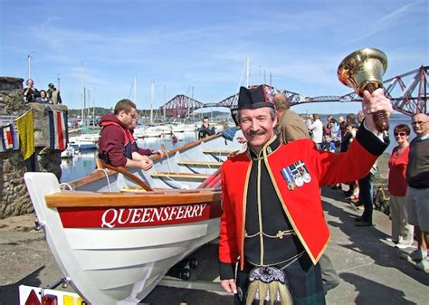 queensferry ferry boat queensferry rowing club launch their boat the edinburgh