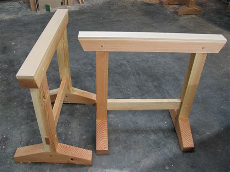 woodworking trestles build these shop horses with simple joinery make