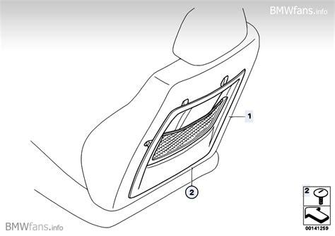supplement 5 part 742 retrofit net bag at seat backrest bmw 1 e87 130i n52