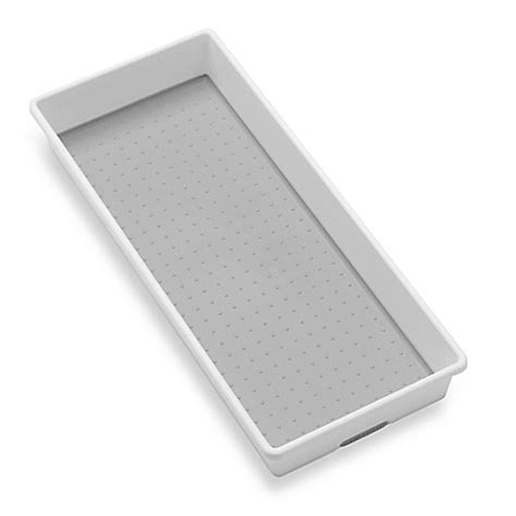 15 inch drawer organizer madesmart 174 6 inch x 15 inch drawer organizer in white grey