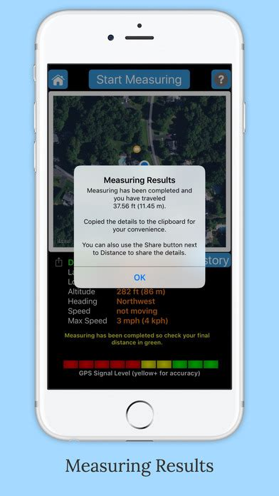measuring app for android imeasurer accurately measure distance using gps app android apk