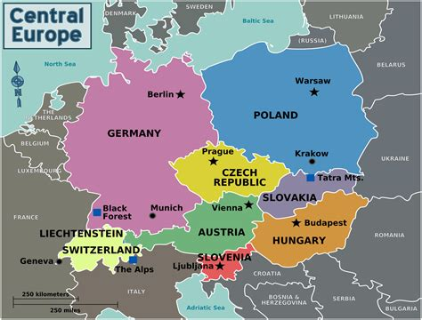 map of central europe tourism geography central europe