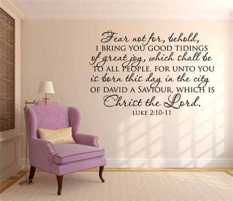 scripture wall stickers scripture wall decal fear not for behold by wearevinyldesigns