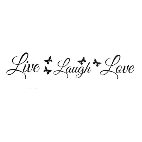 live laugh great quality 4 live laugh wall stickers butterflies