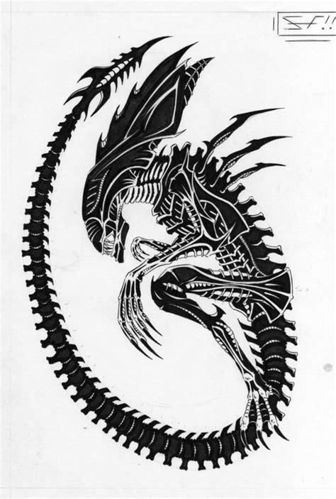 queen xenomorph tattoo xenomorph queen aliens and predators alien queen by