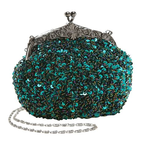 Embroidered Seed Beaded Sequined Fashion Evening Bag