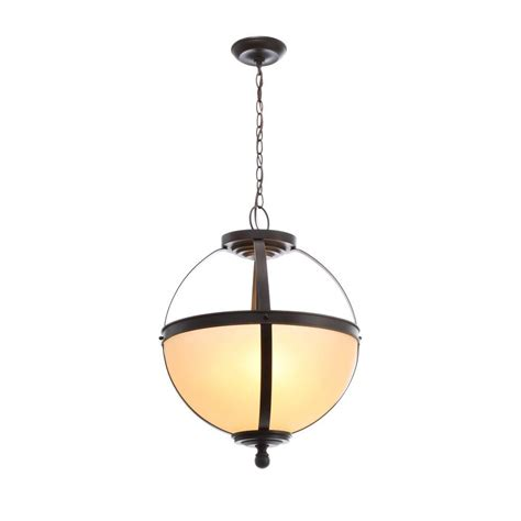 Cafe Pendant Light Sea Gull Lighting Sfera 3 Light Autumn Bronze Pendant With Cafe Tint Glass 6690403 715 The