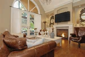 white and brown living room ideas charming white fireplace with modern tv for traditional