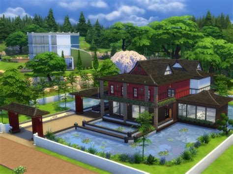 Custom Kitchen Furniture japanese sunrise house by millasrl at tsr 187 sims 4 updates