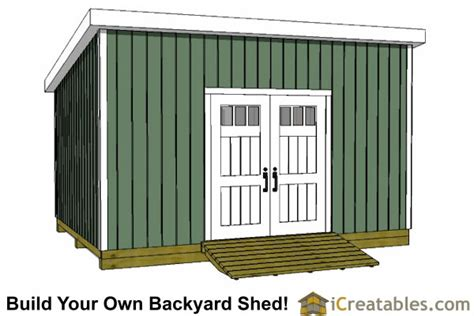Lean To Shed Plans 12×16