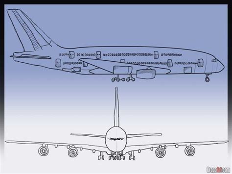 Draw A Plan how to draw an airplane step by step airplanes