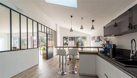 re lumineuse cuisine construire une verriere d interieur maison design
