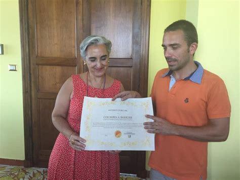 consolato colombia il console colombia barrosse riceve il premio antinooo d