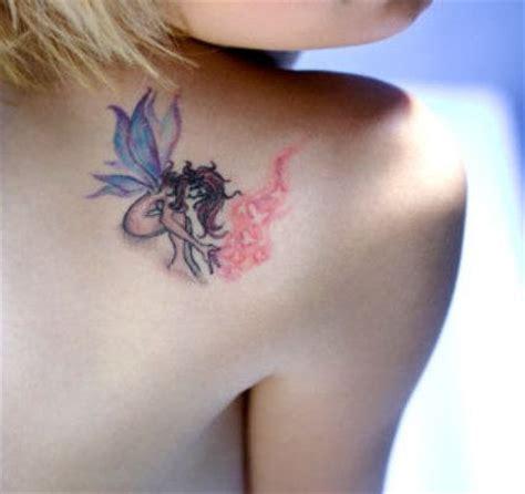 small fairy tattoo