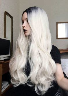 night blonde lush wigs black blonde roots ombre dip details about swiss lace front deep lace part long curly