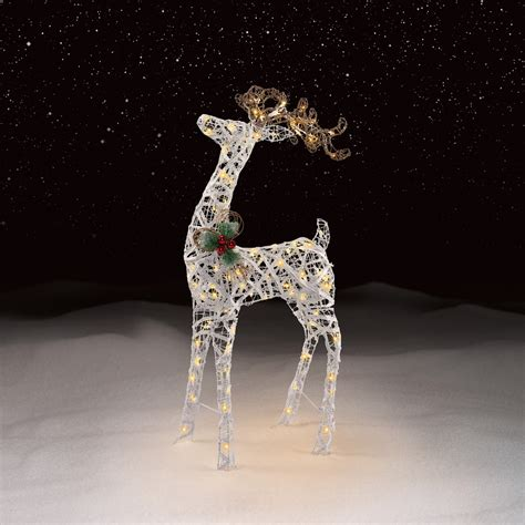 trim a home 174 48 quot led deer lighted decoration seasonal