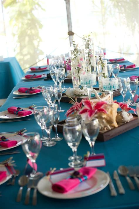 Turquoise and Pink wedding decoration   Purple, Teal, and