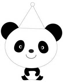 coloring panda panda in hat coloring page h m coloring pages