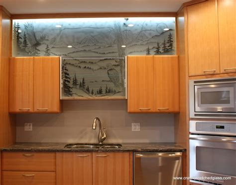 Glass Kitchen Cabinets Doors Kitchen Cabinet Door Glass Other Metro By Studios Sandblasted Designs On Glass