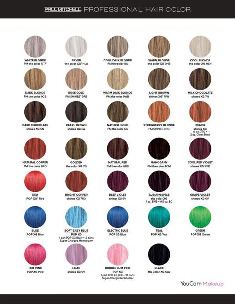 paul mitchell hair color chart image result for paul mitchell pop xg color chart hair