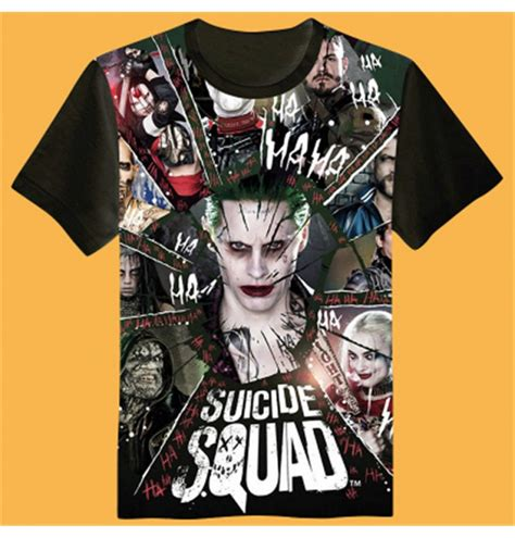 Baju Print Suiciad Squad 8 buy cheap t shirts costumes timecosplay