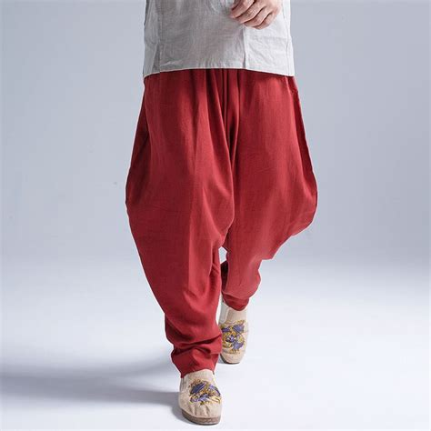 comfortable summer pants new arrival summer fluid big crotch pants male travel