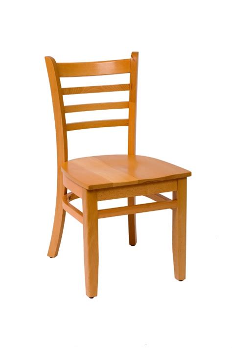 commercial wooden ladder back restaurant dining chair