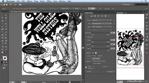 adobe illustrator cs6 learn by video converting art to vector with image trace from adobe