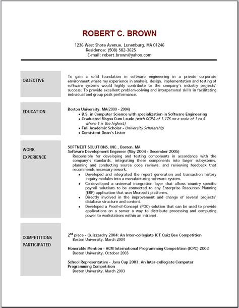 free sample resume objectives artemushka com