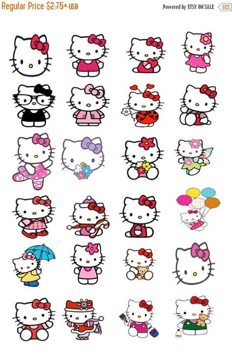 free printable hello kitty planner hello kitty stickers these stickers will fit ec planner