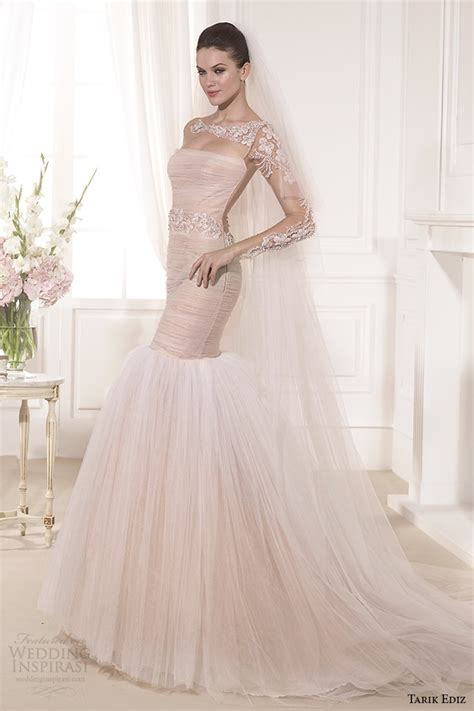 gallery for gt blush wedding dress with sleeves