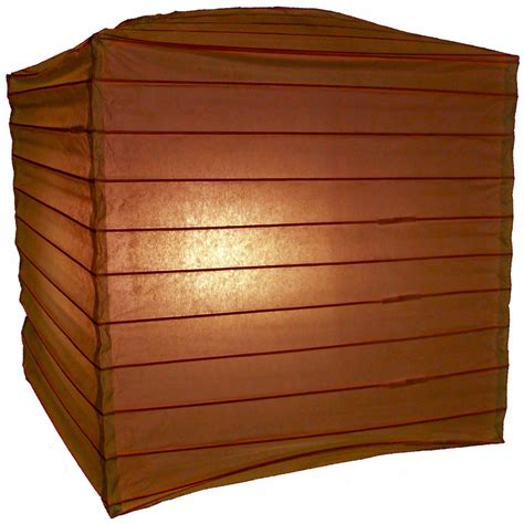 10 quot brown square shaped paper lantern