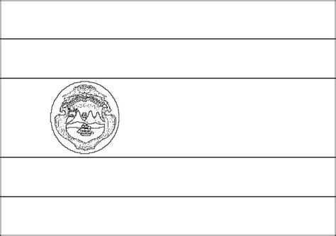 costa rica flag coloring page for kids favorite places
