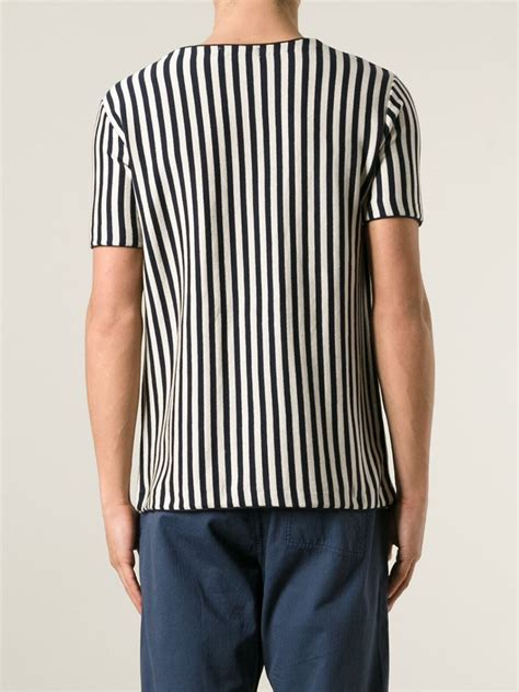 vertical design clothes lyst ymc vertical stripes t shirt in blue for men