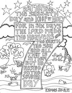 honor the sabbath coloring pages coloring pages